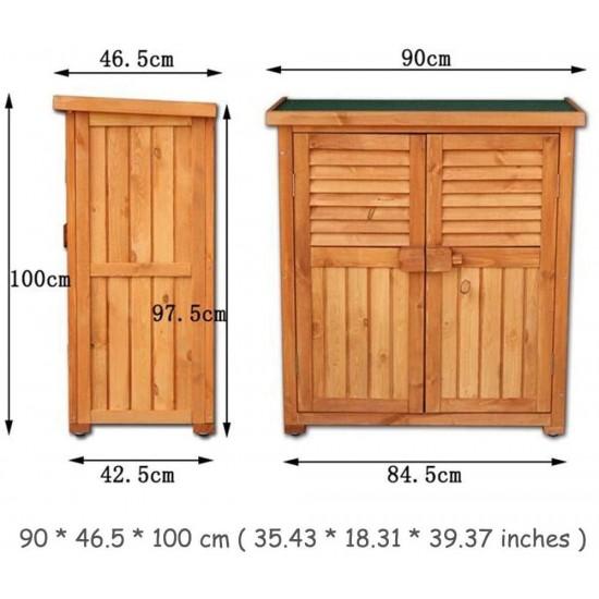 Ycdjcs Garden Cabinets Wooden Storage, Outdoor Wooden Storage Box Waterproof