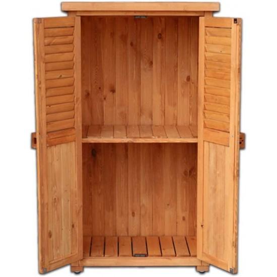 Wooden Tool Shed Outdoor Garden Storage, Outdoor Wooden Storage Box Waterproof